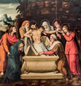 Lote 86, Subasta 515, Pintura, Gaspar Requena, Entierro de Cristo, Diciembre 2014. Durán Arte y Subastas.