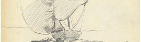 Joaquín Sorolla, Barca en la playa, 1903-1904. Sorolla. Trazos en la arena. Museo Sorolla. Cortesía: Fundación Museo Sorolla, Madrid, 2015.