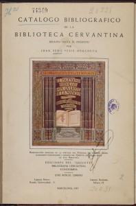 Coleccionismo Cervantino, Cubierta catálogo biblioteca Sedó, Biblioteca Nacional de España, Madrid, 2015