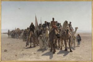 Léon Belly, Peregrinos yendo a La Meca, París, Musée d'Orsay. Cortesía: Fundación Mapfre, 2015.