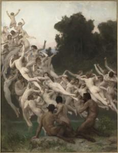 William Bouguereau, Las oréades, París, Musée d'Orsay. Cortesía: Fundación Mapfre, 2015.