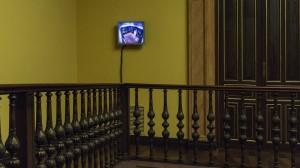 Vista exposición. Vídeo-régimen. Coleccionistas en la era audiovisual. Museo Lázaro Galdiano, Madrid, 2015.