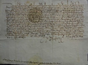 Subasta 518, Marzo 2015. Lote n. 3192: Carta Real, Juan II, 1423. Foto: Durán Arte y Subastas.