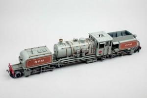Subasta 518, Marzo 2015. Lote n. 492: Locomotora CFM de vapor. Foto: Durán Arte y Subastas.