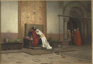 Jean-Paul Laurens, La excomunión de Roberto II el Piadoso, París, Musée d'Orsay. Cortesía: Fundación Mapfre, 2015.