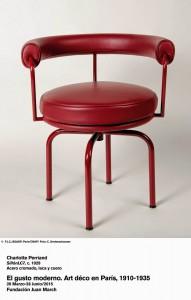 Charlotte Perriand. SillónLC7, c. 1929. El gusto moderno. Art Déco en París 1910-1935. Fundación Juan March.
