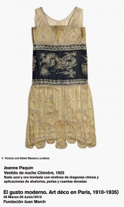 Jeanne Paquine. Vestido de noche Chimère, 1925. El gusto moderno. Art Déco en París 1910-1935. Fundación Juan March.