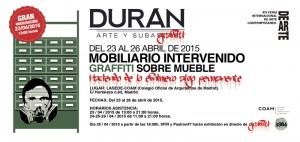 Subasta 519, Abril 2015. Feria DEARTE, COAM, Flyer participación Durán Arte y Subastas