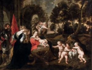 Subasta 519, Abril 2015. Lote n. 124: Descanso en la huida a Egipto con santos, Taller de Rubens. Foto: Durán Arte y Subastas.