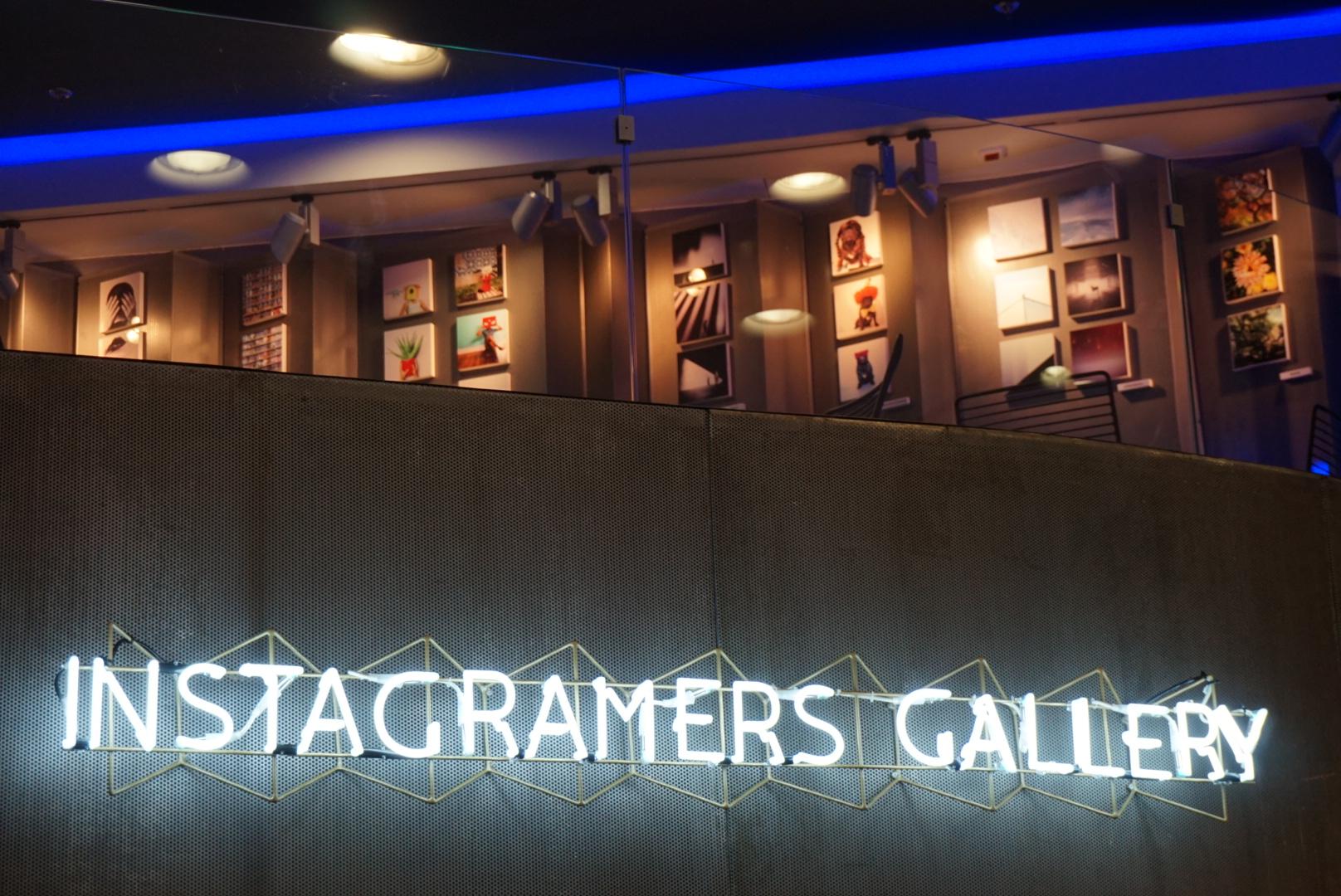 Instagramers Gallery. Detalle de la exposición. Espacio Fundación Telefónica, Madrid. 2015.