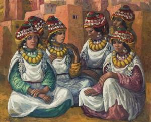Lote 194, Subasta 520, Mériem Mezian. Femmes ait atta du Sahara, Mayo 2015. Foto: Durán Arte y Subastas.