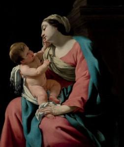 Subasta 521, Junio 2015. Lote n. 107: Simon Vouet, Virgen de la Columna. Foto: Durán Arte y Subastas.