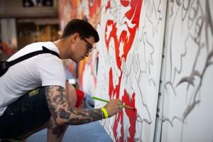 Mulafest 2014. Ricardo Cavolo, murales participativo. Ifema, Madrid.
