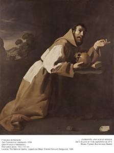 Francisco de Zurbarán, San Francisco en meditación, 1639. Museo Thyssen-Bornemisza, ZURBARÁN: una nueva mirada, 2015.
