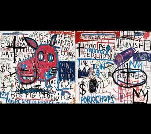 Jean-Michel Basquiat, El hombre de Nápoles, 1982. Museo Guggenheim, Bilbao, 2015.