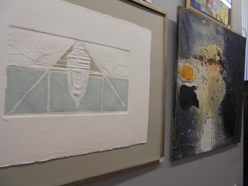 Subasta 522, Julio 2015. Detalle de la exposición de lotes. Foto: Durán Arte y Subastas.