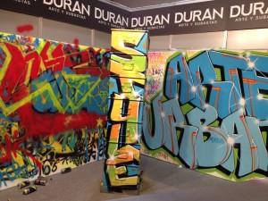 Obra de #Pastron7 creada in situ en nuestro stand en el festival de Arte Urbano MULAFEST. Madrid, 2015.
