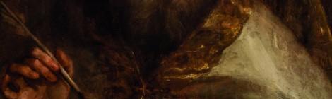Subasta Septiembre 2015 (523): San Ambrosio (óleo sobre tabla, 64 x 49 cm.), Escuela Española de finales del S. XVII. Atribuido a Francisco de Goya y Lucientes. Foto: Durán Arte y Subastas.