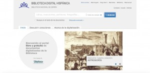 Página web de la Biblioteca Digital Hispánica de la BNE. Madrid, 2015.