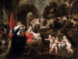 Lote 116, Subasta 524, Taller de Rubens, Descanso en la huida a Egipto con santos. Octubre 2015. Durán Arte y Subastas.