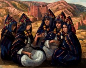 Lote 171, Subasta 524, Mériem Mézian, La conversación de las mujeres. Octubre 2015. Durán Arte y Subastas.