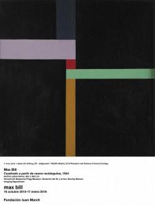 Cuadrado a partir de nueve rectángulos, Max Bill, 1944. Fundación Juan March, Madrid, 2015.