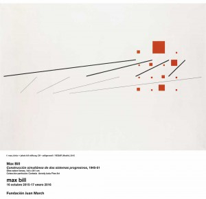 Construcción simultánea de dos sistemas progresivos, Max Bill, 1945-51. Fundación Juan March, Madrid, 2015.