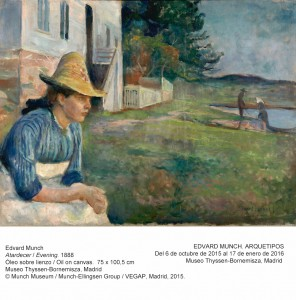 Atardecer, Edvard Munch, 1888. Museo Thyssen-Bornemisza, Madrid, 2015.
