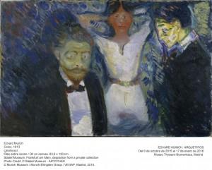 Celos, Edvard Munch, 1913. Museo Thyssen-Bornemisza, Madrid, 2015.
