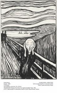 El Grito, Edvard Munch, 1895. Museo Thyssen-Bornemisza, Madrid, 2015.