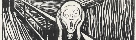 Edvard Munch, El Grito, Lápiz litográfico y tinta china, 1895. The Metropolitan Museum of Art, Nueva York, legado de Scofield Thayer, 1982. Edvard Munch. Arquetipos. Museo Thysse-Bornemisza. Madrid, 2015.