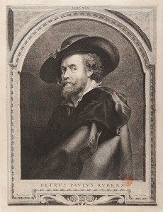 Paulus Pontius, Retrato de Peter Paul Rubens, 1710. Rubens, Van Dyck y la Edad de oro del grabado flamenco. BNE. Madrid, 2015.