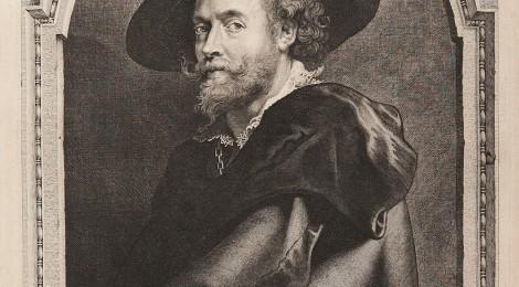 Retrato de Peter Paul Rubens, de Paulus Pontius, 1710. Rubens, Van Dyck y la Edad de oro del grabado flamenco. Cortesía: BNE. Madrid, 2015. BNE, ER/3111(2).