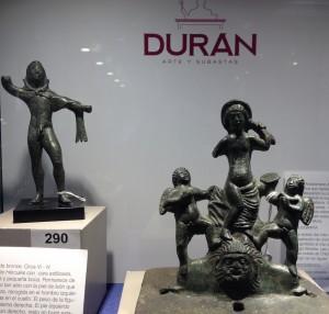 Lote 290, Subasta 525, Afrodita Anadiomene romana de bronce. Noviembre 2015. Durán Arte y Subastas.