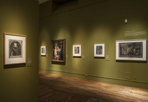 Vista de la exposición Rubens, Van Dyck y la Edad de oro del grabado flamenco. BNE. Madrid, 2015.