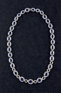 Lote 350, Subasta 525, Collar de oro blanco de 18 K, Noviembre 2015. Durán Arte y Subastas.