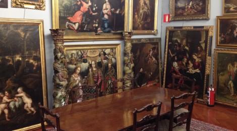 Subasta 526, Diciembre 2015. Detalle de la exposición de lote en nuestra sala. Foto: Durán Arte y Subastas.