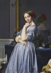 Jean-Auguste Dominique Ingres, La condesa de Haussonville, 1845. Ingres, Museo del Prado. Madrid, 2015.