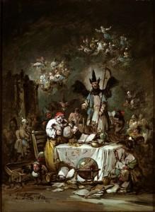 Capricho alegórico: la avaricia. Eugenio Lucas Velázquez (1852). Museo Lázaro Galdiano. Madrid, 2016.