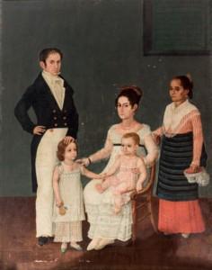 Juan Arzeo, Retrato de la familia Azcárraga. Vendido 22/10/2015. Foto: Durán Arte y Subastas.