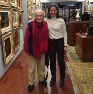 Consuelo Durán y Antonio López en la sala de subastas Durán Arte y Subastas de Madrid. Febrero de 2016.
