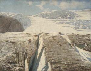 Glaciar. Emilio Longoni (1905). Fundación Mapfre. Madrid, 2016.