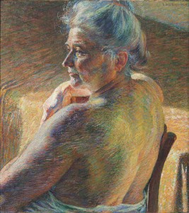 Nudo di spalle (Controluce). Umberto Boccioni,1909. Fundación Mapfre. Madrid, 2016.