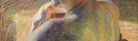 Nudo di spalle (Controluce) [Desnudo de espaldas (Contraluz)], Umberto Boccioni,1909.Óleo sobre lienzo60 × 55,2 cmMart. Museo di Arte Moderna e Contemporanea di Trento e Rovereto, Rovereto. Colección L. F.INV. MART 2155. Del Divisionismo al Futurismo. Fundación Mapfre, Madrid, 2016. Cortesía: Fundación Mapfre.