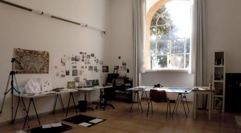 Estudio de la artista española Almudena Lobera en la Academia de España. Index Roma. © Begoña Zubero. Cortesía: Academia de Bellas Artes de San Fernando. Madrid, 2016.