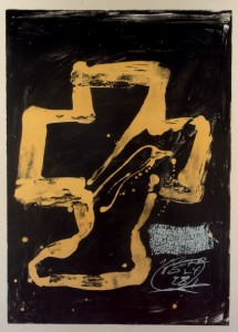 Lote 218, Subasta 531, Chaise et pied, Antoni Tàpies. Abril 2016. Durán Arte y Subastas.