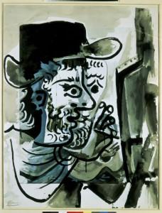 Sin Título. Pablo Picasso. Le peintre au travail, 1964. Espacio Fundación Telefónica, Madrid, 2016.