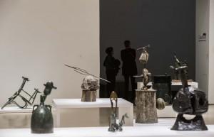 Miró y el objeto. Detalle de la exposición. CaixaForum Madrid, 2016.