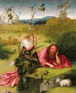 El Bosco. San Juan Bautista en meditación, 1485–1510. Museo Nacional del Prado. Madrid, 2016.