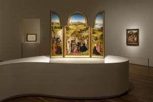 El Bosco. Imagen en sala de la exposición. Museo Nacional del Prado. Madrid, 2016.
